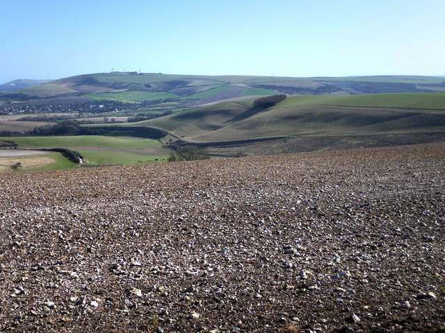 View along the Downs