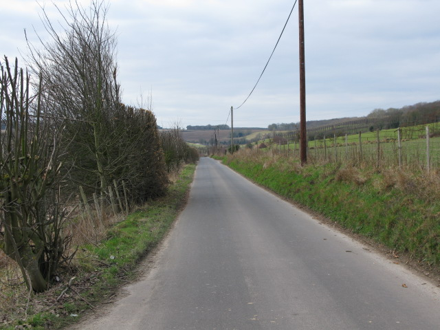 View along Pett Bottom Road