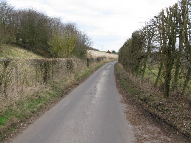 Looking NE along Pett Bottom Road
