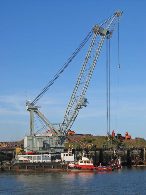 Floating crane, Heysham harbour