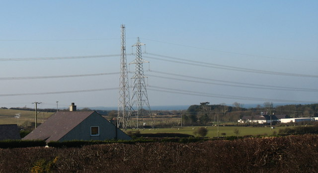 View across to the visitor centre at Wylfa NP Station