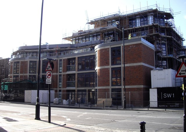 New Flats at Junction of Moreton Street and Vauxhall Bridge Road