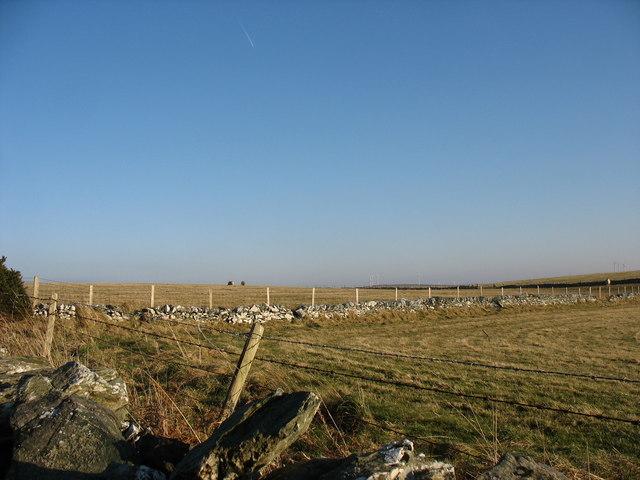 Farmland above Porth yr Wylfa