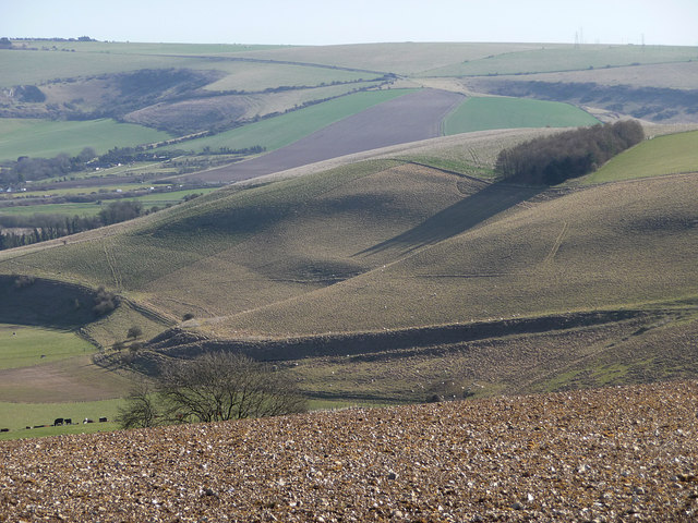 Looking towards Annington Hill