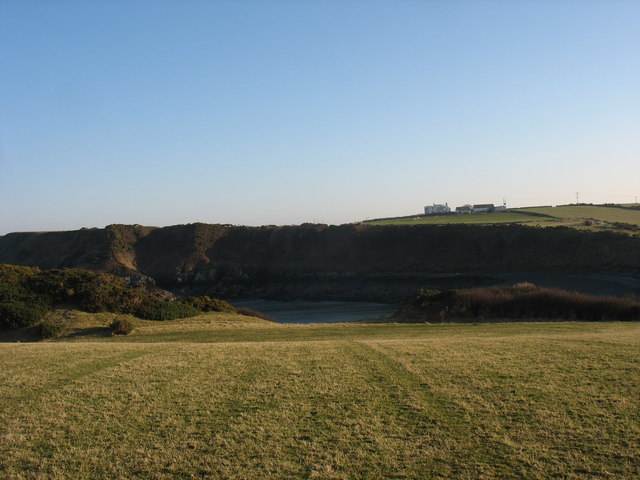 View across the head of Porth yr Wylfa towards Park Lodge