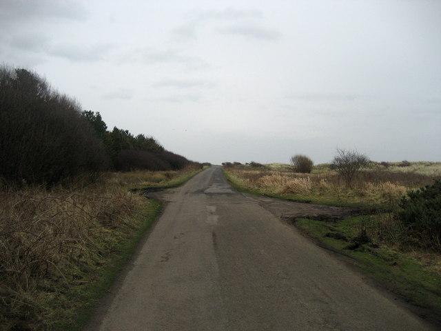 Road beside Druridge Bay