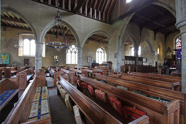 All Saints, Biddenden, Kent - North arcade