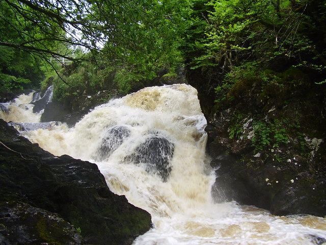 Waterfall on river Aray