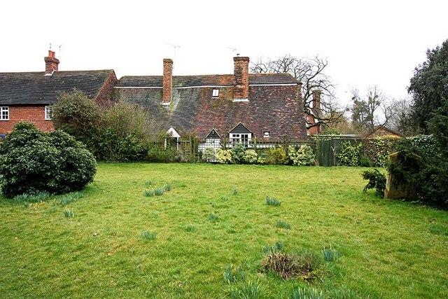 Cottage from All Saints, Biddenden, Kent churchyard