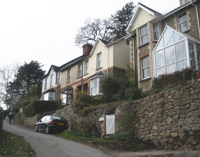 Terraced houses, near Lustleigh