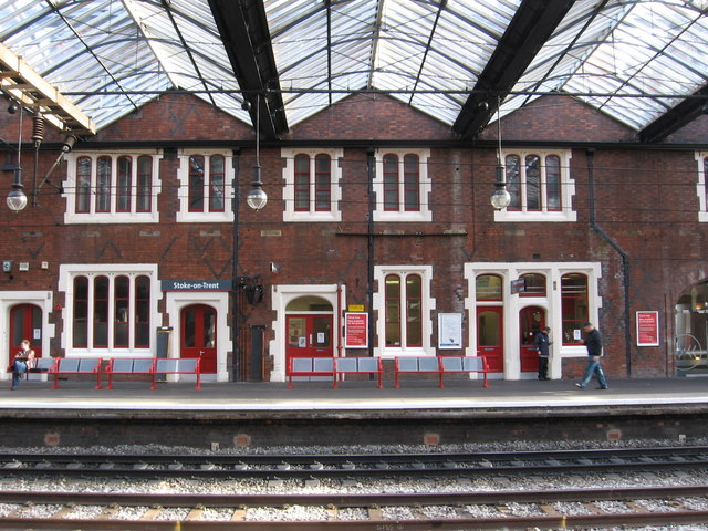 Stoke-on-Trent - Station Platform 1 Buildings