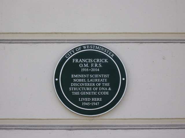 Green Plaque Francis Crick