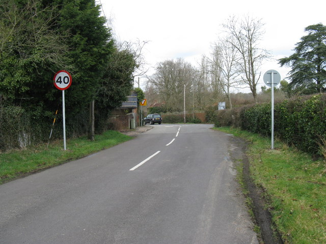 Country road joins the A272 at Coneyhurst