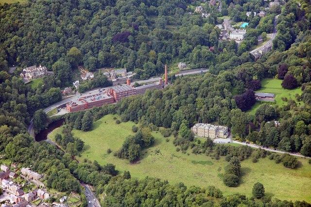 Masson Mills and Willersley Castle, Cromford