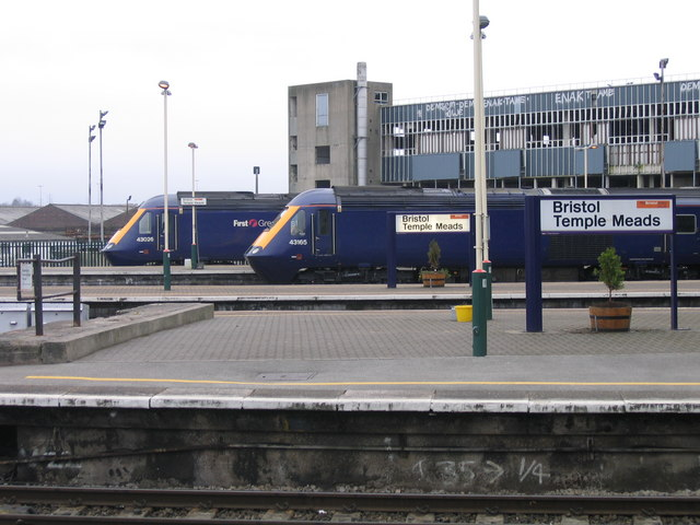Bristol Temple Meads Station, Trains Waiting to Head North