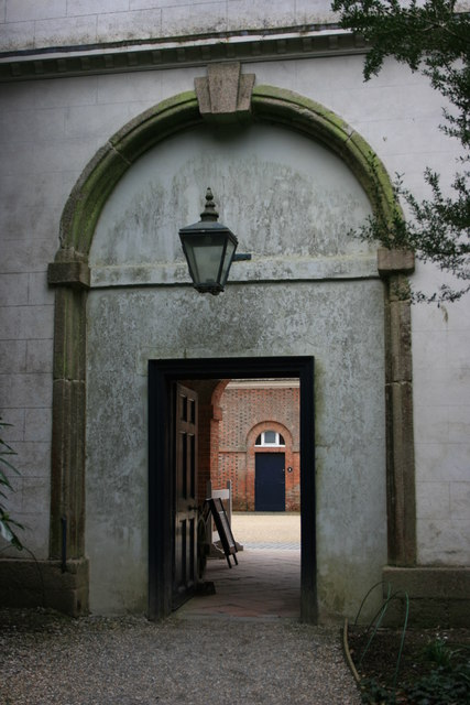 Doorway into the Stable Block at Saltram House