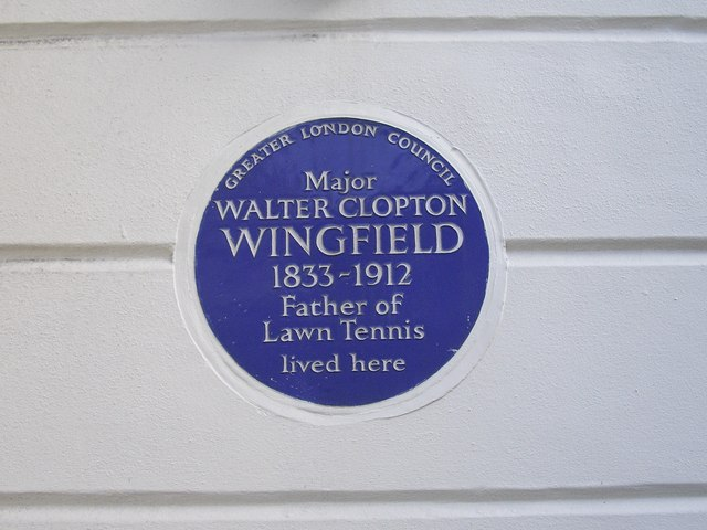 Blue Plaque 'Major Walton Clopton Wingfield'