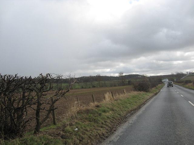 The B6352 heading towards Proctor's Smithy