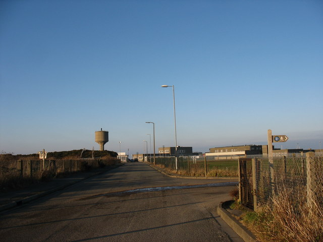 Road junction south of the disused chemical factory