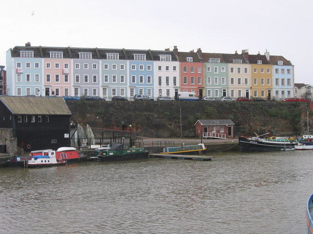 Terrace of Houses in Pastel Shades, Bristol
