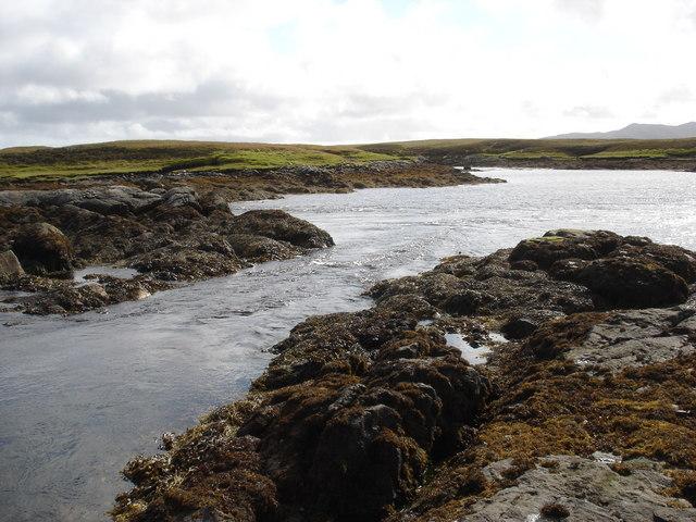 Tidal rapid draining Loch Dheoir