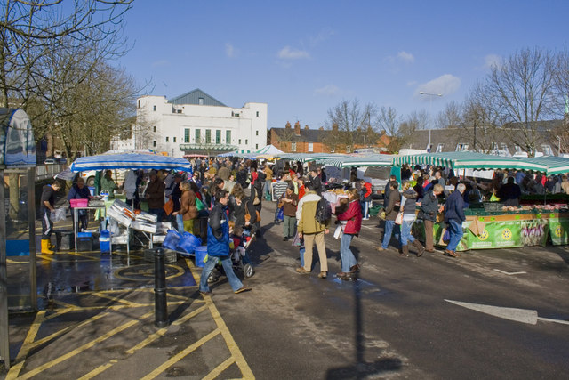 Farmers Market in the Friarsgate Car Park