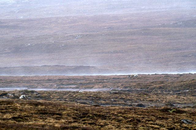 Driving rain, Loch of Brecksie