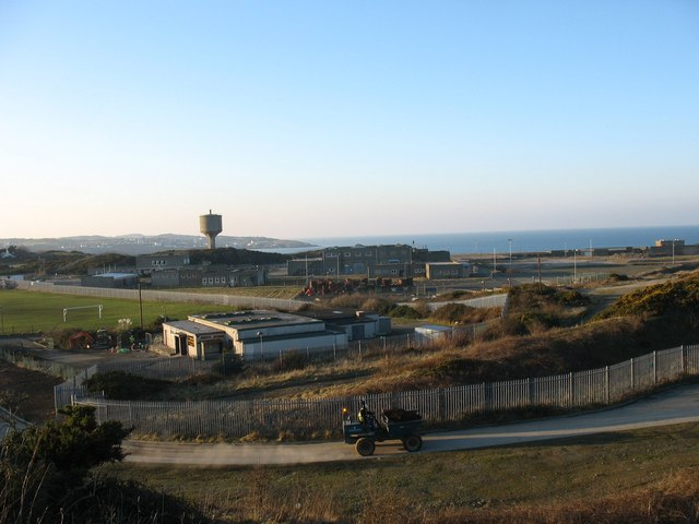 Work in progress on the new Amlwch sewage plant