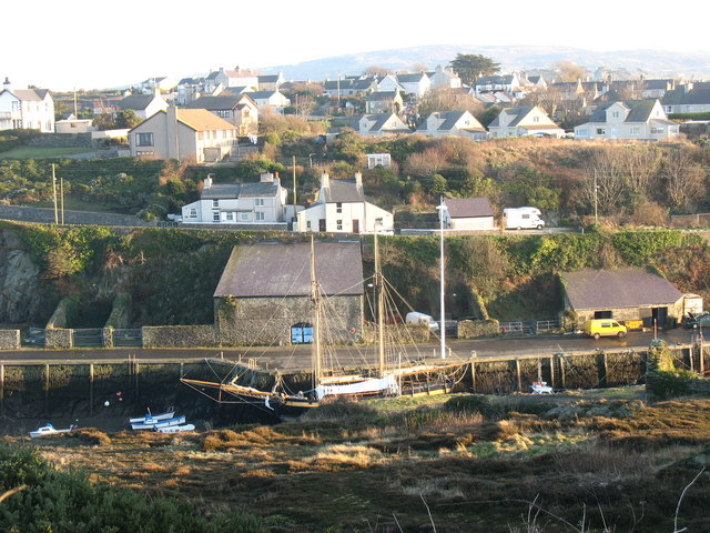 The replica of HMS Pickle at Amlwch Port