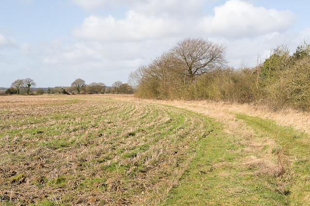 Footpath south of Manor Farm, Bramdean