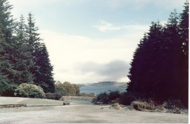 The view from the front garden of Ardeonaig Outdoor Centre