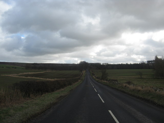 Long straight section of the B5362