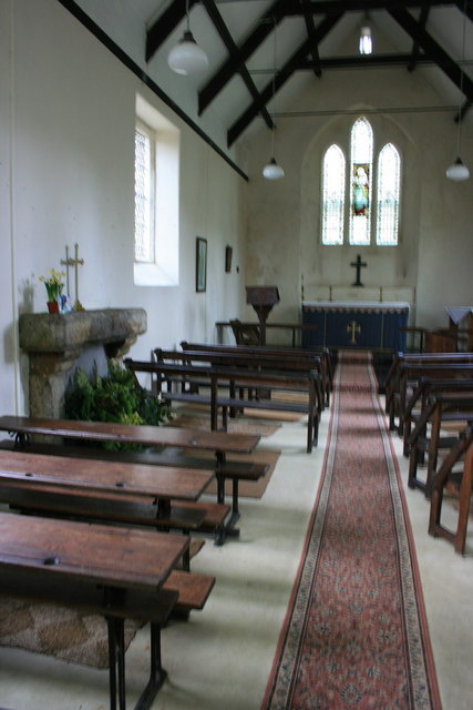 Interior of  St Raphael's Church, Huccaby
