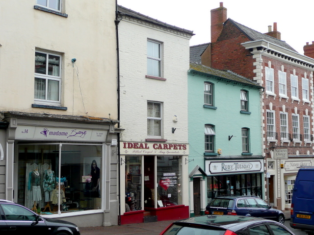 Shops on Broad Street, Ross-on-Wye