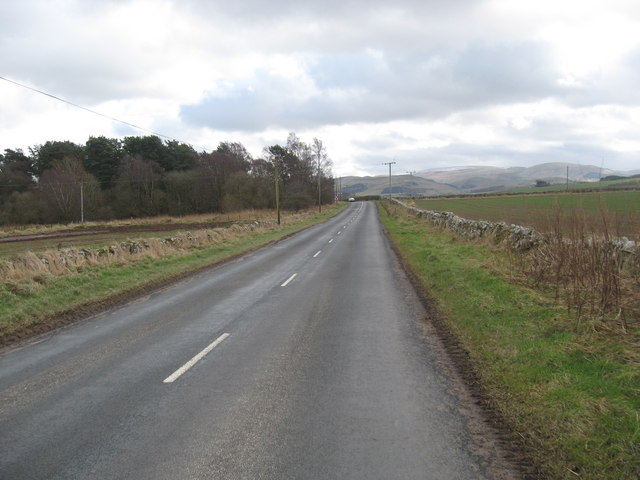 A country road in the Scottish Borders