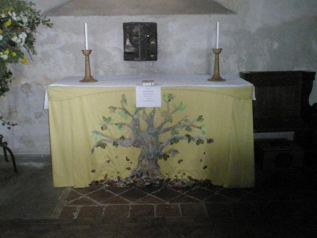 Side altar at All Saints', Steep