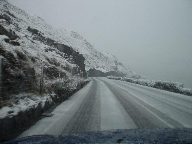 1st snow of winter Snowdonia