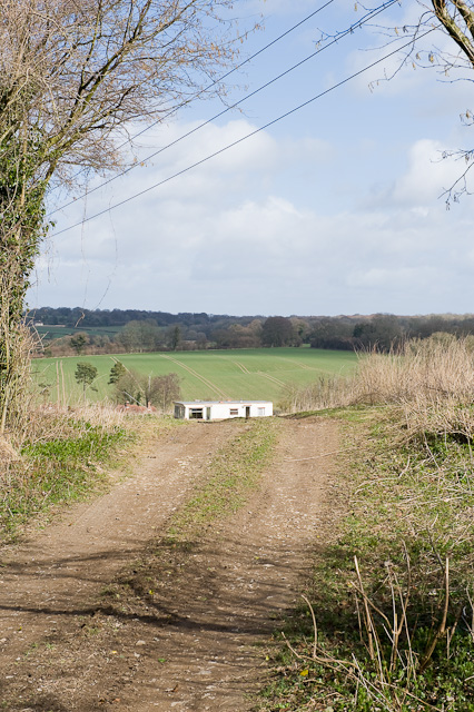 Mobile home with a view south of Bramdean Farm