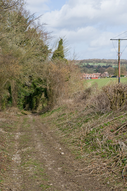 Bridleway descending into Bramdean