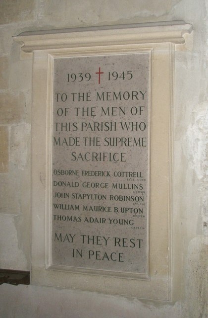 1939-1945 War Memorial within All Saints', Steep