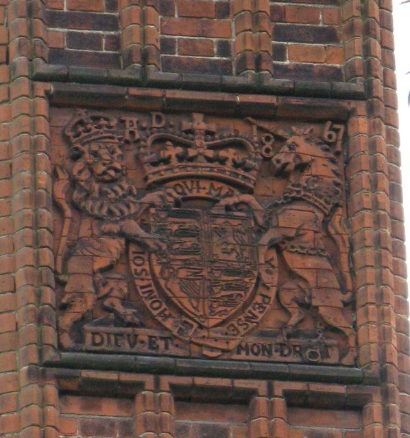 Coat of Arms on Chimney at Kew Gardens