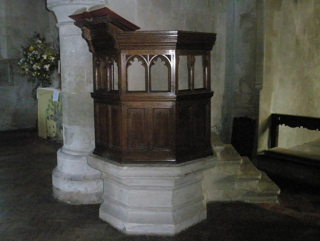 The pulpit at All Saints', Steep