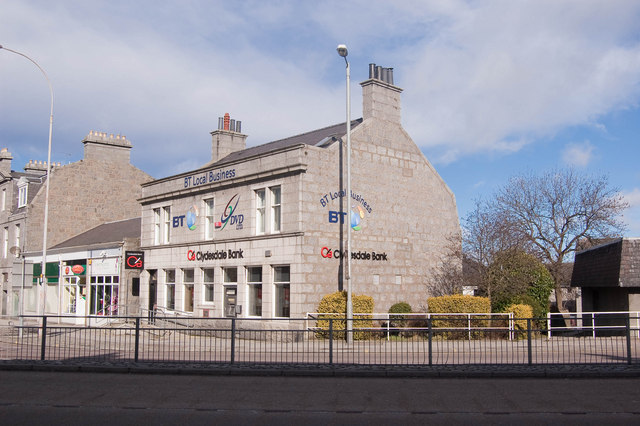 Bucksburn branch of the Clydesdale Bank