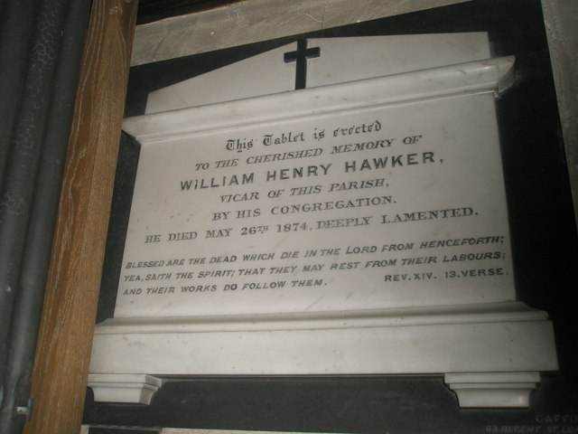 Tablet for a much loved vicar within All Saints', Steep
