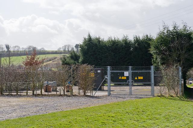 Sewage plant south of Woodlane Close