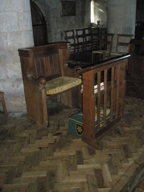 The incumbent's chair  within All Saints', Steep