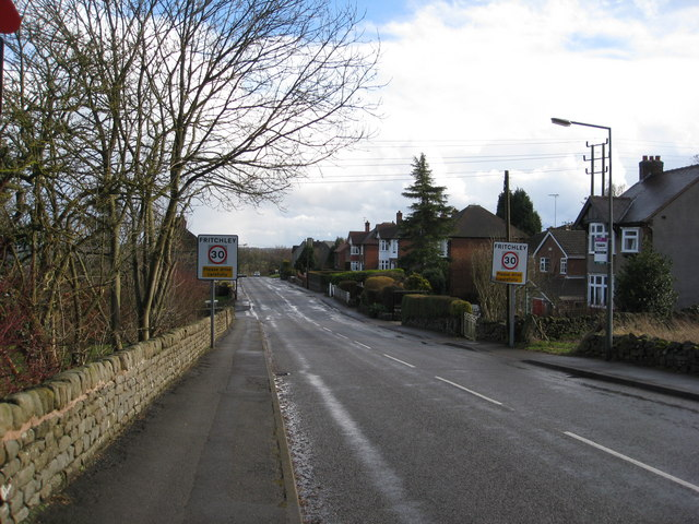 Entering Fritchley