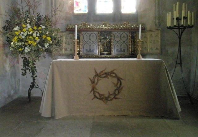 The main altar at All Saints', Steep