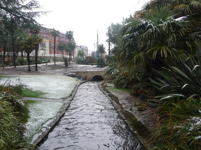 Bournemouth: the Bourne stream emerges from under The Square