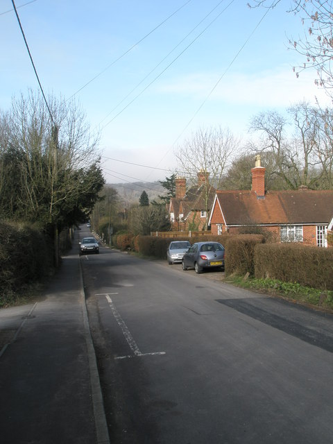 Looking westwards along Church Road